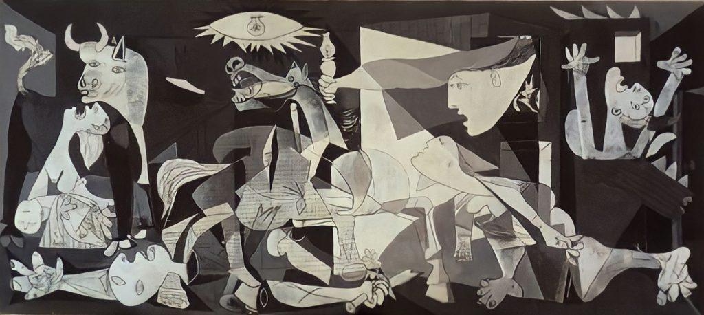 Bombardeo de Guernica famoso cuadro de Pablo Picasso 1937