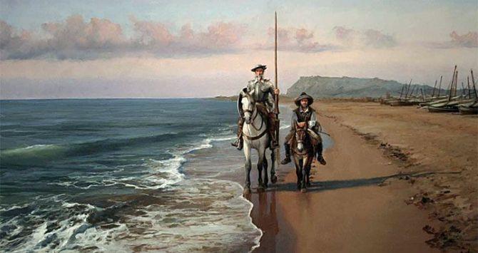 Don Quijote en Barcelona, Miguel de Cervantes