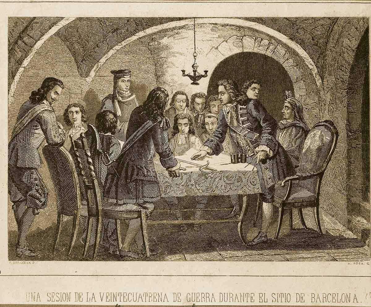 Barcelone en 1714 Guerre de Succession d'Espagne ;