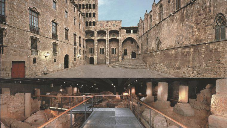 Las calles de la antigua barcelona, plaza del Rei