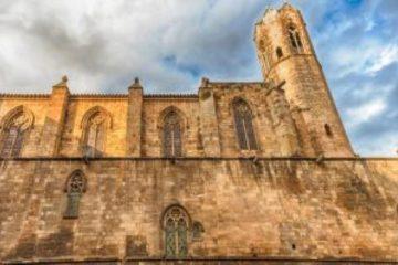 Plaza del Rey - chapelle de Santa Agata à Barcelone - architecture gothique
