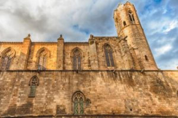 Plaza del Rey capilla de Santa Ágata de Barcelona arquitectura gótica